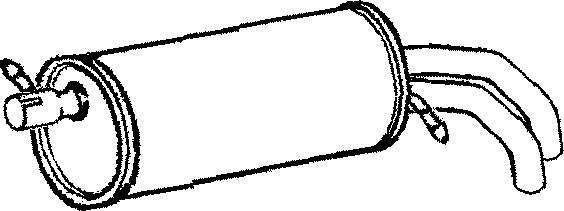klarius fe611k exhaust rear back box vw sharan 1 9 tdi 95