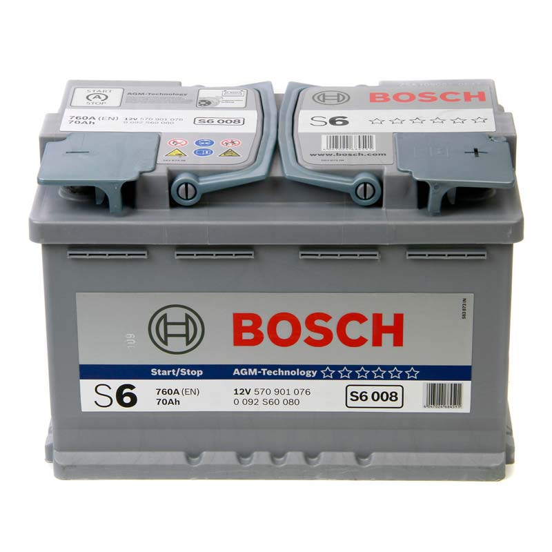 bosch s6 agm gel car battery type 096 70ah 760cca sealed 3