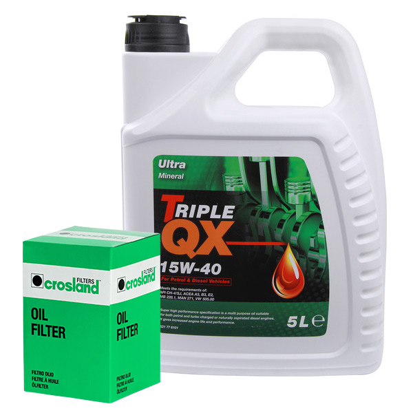Oil Filter Service Kit With Triple Qx Ultra Mineral 15w40