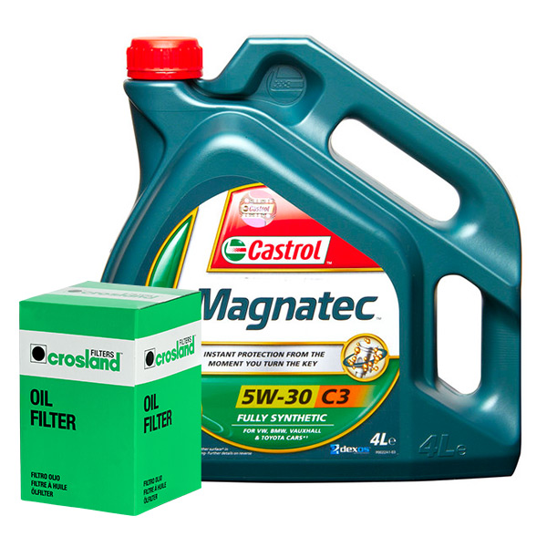 Castrol Magnatec 5w30 C3 Spec Engine Oil 4l Filter