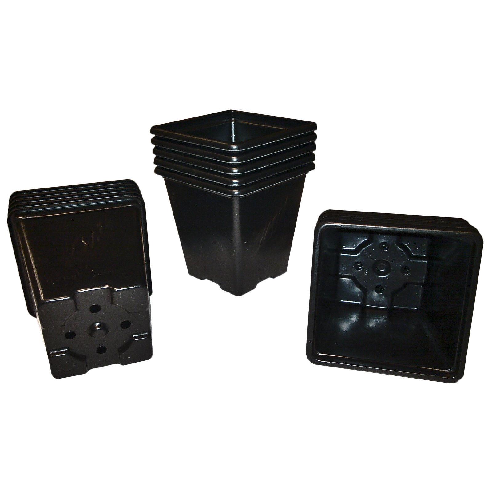 Square Plastic Plant Pots | 7cm, 1/4L - 9cm, 3/4L - 11cm ...
