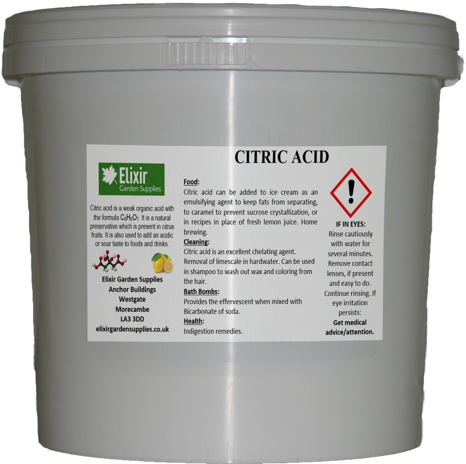 Bucket Citric Acid 500g 1Kg 5Kg 10Kg 15Kg 20Kg 25Kg Food ...