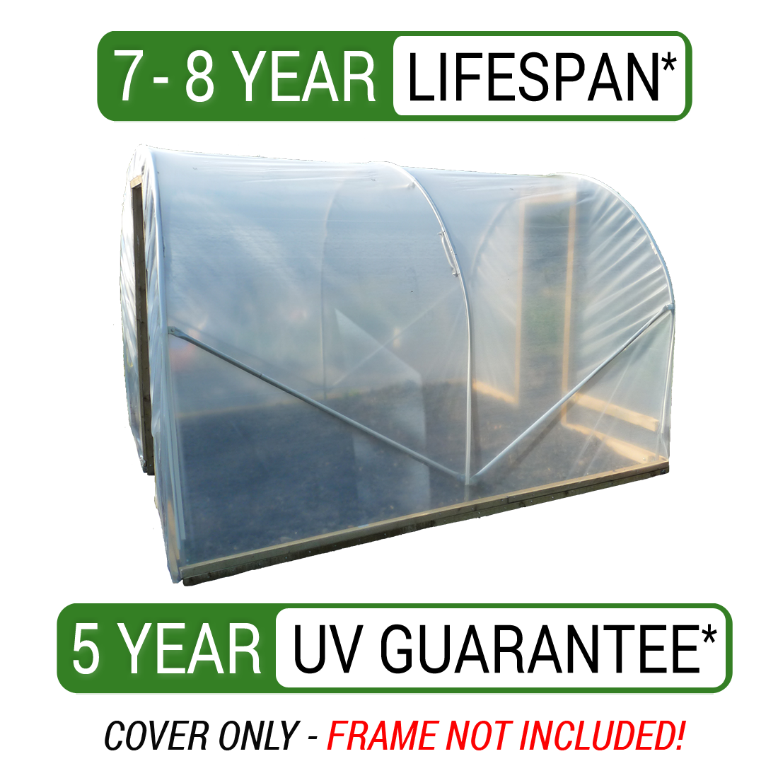 7 3m X 15m Greenhouse Polythene Polytunnel Cover Clear