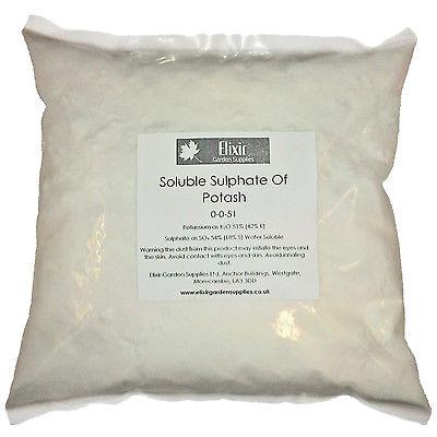 Sulfate Soluble 25 kg d'engrais de potasse