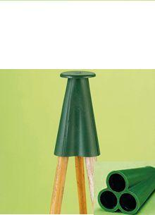 12 x PYRAMID RUBBER CANE CAPS/GRIPS, BAMBOO CANES,