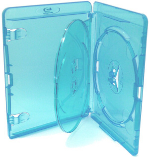 10 x AMARAY Blue BLU-RAY DVD TRIPLE CASES holds 3 disks
