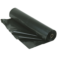 BLACK POLYTHENE SHEETING PLASTIC COVERS 1m wide,  500G