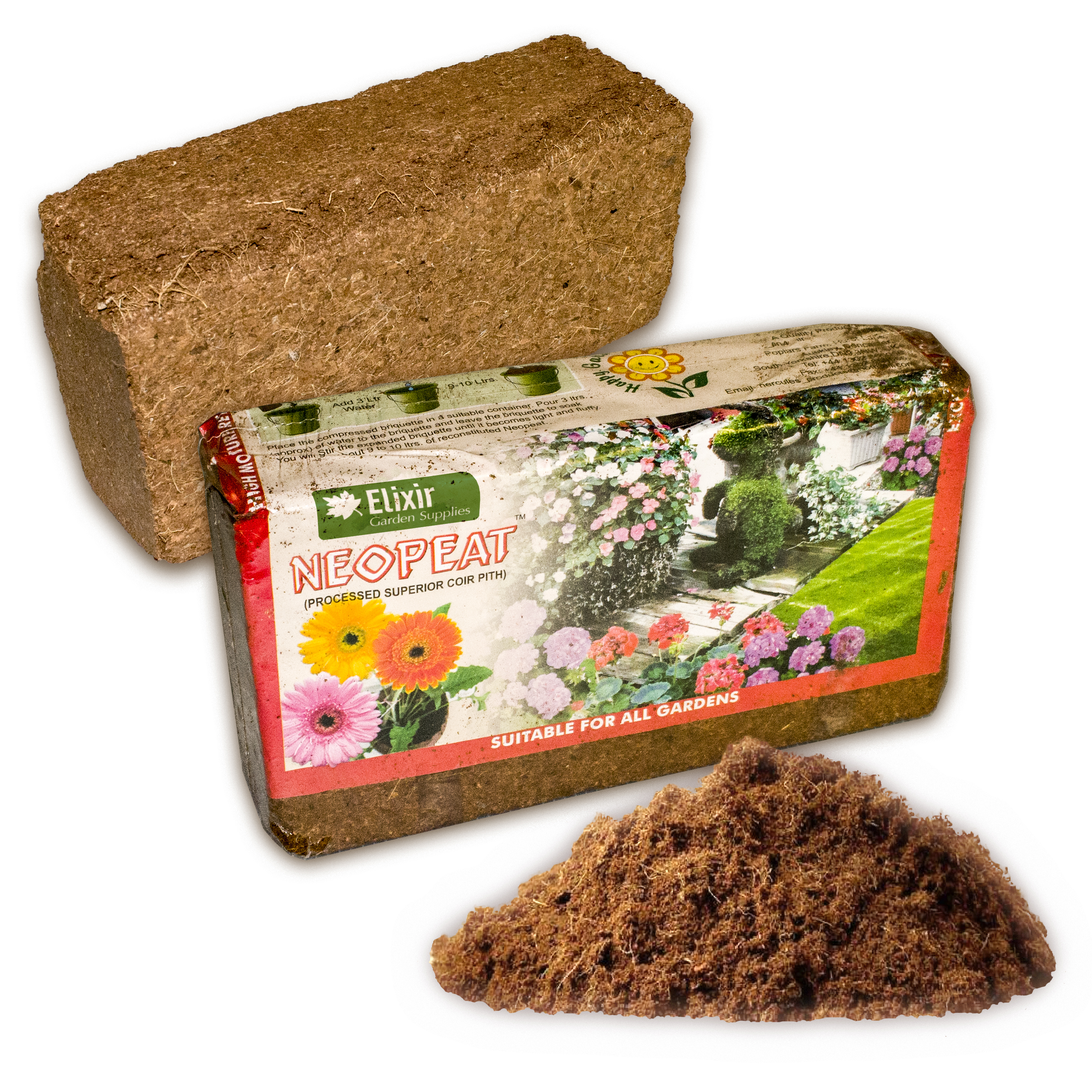 2 x Coir Compost Organic Blocks Expands to 20-22lts