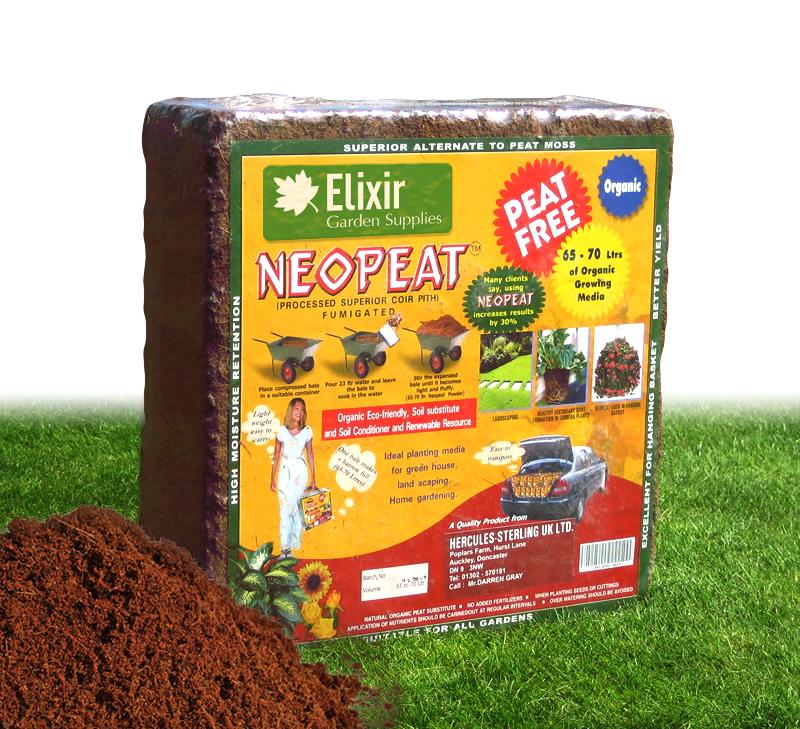 5 x 70lt Coir Compost Organic Blocks Makes up to 350lts