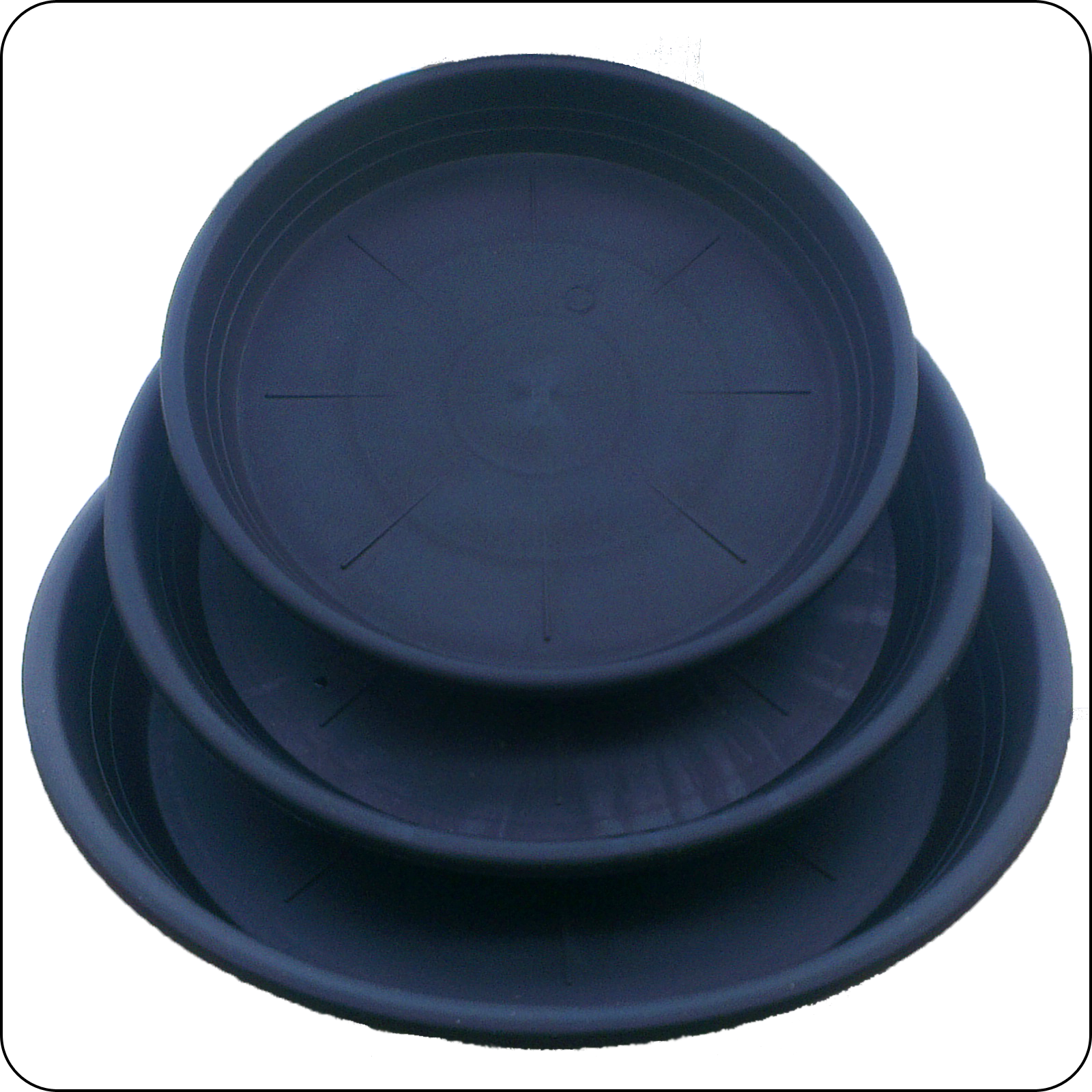 Round Black Plastic Plant Pot Saucers Water Tray Base