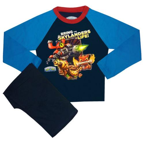 Childrens-Kids-Long-Sleeved-Skylanders-Pyjamas-PJs-Top-Trousers