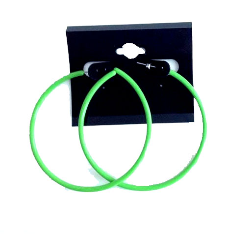 Neon-Hoop-Earrings-1980s-80s-Retro-Rave-Fancy-Dress-Costume-Accessory