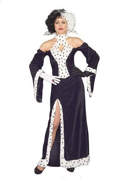 Cruella Deville Fancy Dress Costume De Ville Halloween 10-14 - 515