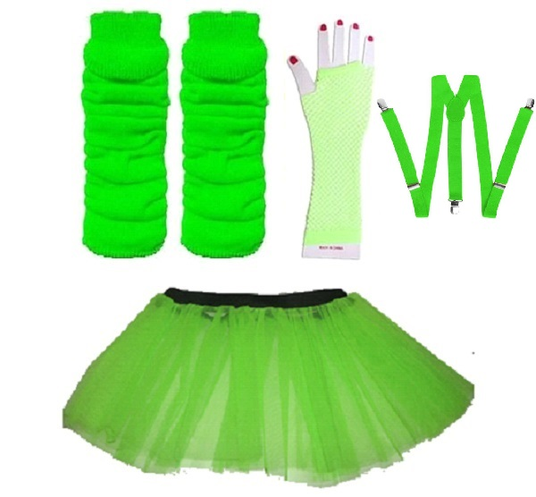 NEON-UV-TUTU-GLOVES-LEG-WARMERS-BRACES-1980S-FANCY-DRESS-ALL-SIZES