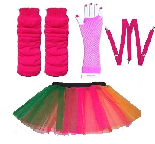 NEON-UV-TUTU-GLOVES-LEG-WARMERS-BRACES-1980S-FANCY-DRESS-ALL-SIZES