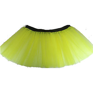 Neon UV Tutu Skirt Childs Girls 1980s Fancy Dress Party