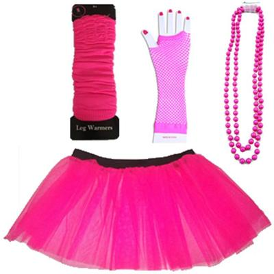 NEON UV TUTU GLOVES LEG WARMERS FANCY DRESS ALL SIZES #2: _1 JPG