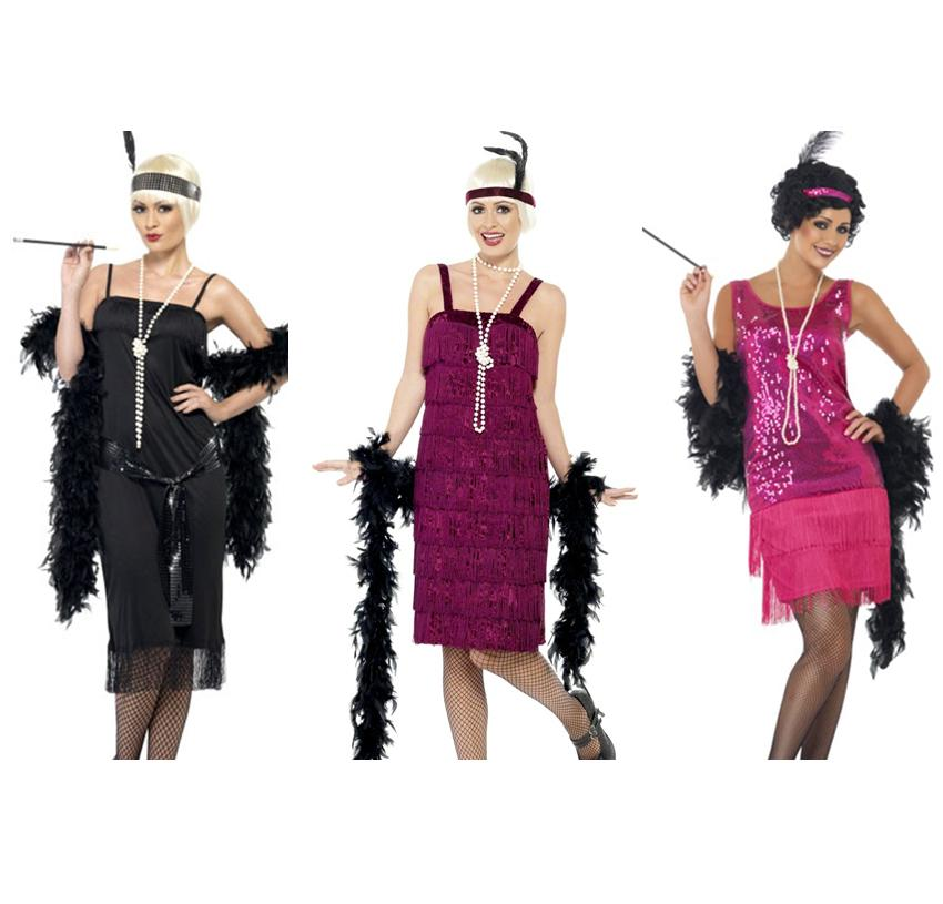 Ladies Womens Flapper Charleston 1920s 20s Fancy Dress Costume 3 Styles Ebay