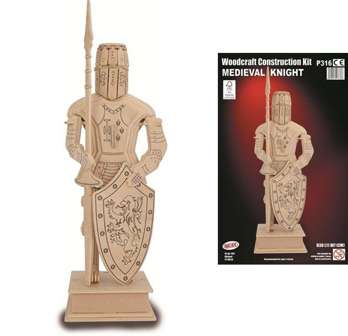 Medieval Knight Wooden Construction Kit Woodcraft 3D Model