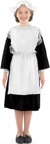 Childrens-Kids-Victorian-Girl-Maid-Edwardian-Fancy-Dress-Costume