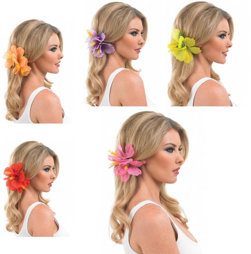 Hawaiian Luau Lei Flower Hairclip Fancy Dress Accessory