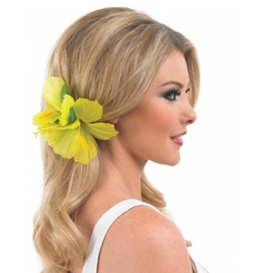 Hawaiian-Luau-Lei-Flower-Hairclip-Fancy-Dress-Accessory