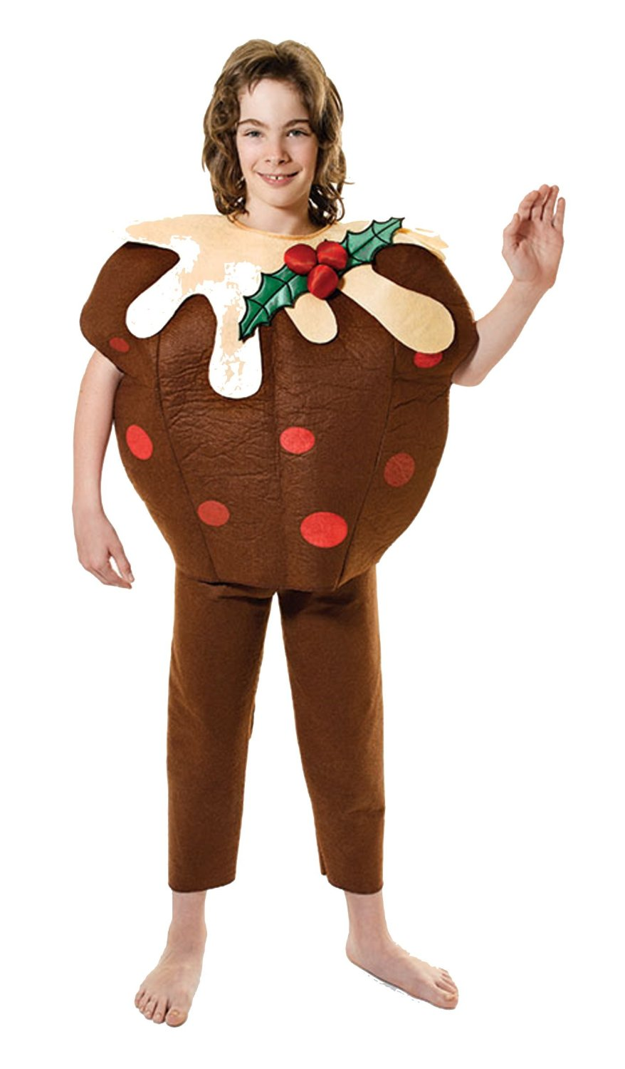 About childrens kids christmas pudding fancy dress costume 128cm