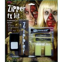 Zipper FX Kit Fancy Dress Gory Bloody Make Up Halloween Zombie