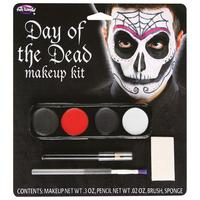 Day of the Dead Make Up Kit Male Fancy Dress Halloween