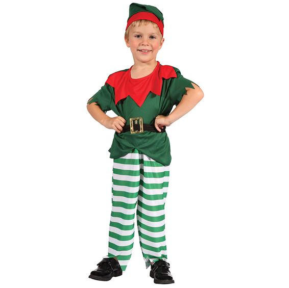 Santas Helper Boy Elf Toddler Fancy Dress Costume 2-3 Years