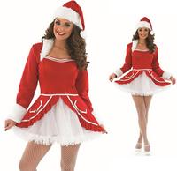Ladies Santa Baby Fancy Dress Costume Christmas