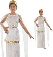 Childrens Kids Girls Athena Roman Greek Toga Goddess Fancy Dress Costume