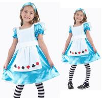 Childrens Girls Alice in Wonderland Fancy Dress Costume Book Week