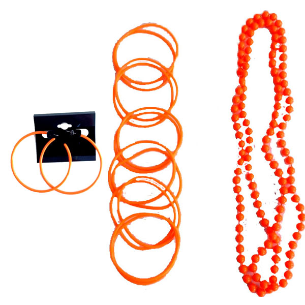 Details about neon beads necklace bangles bracelets hoop earrings any