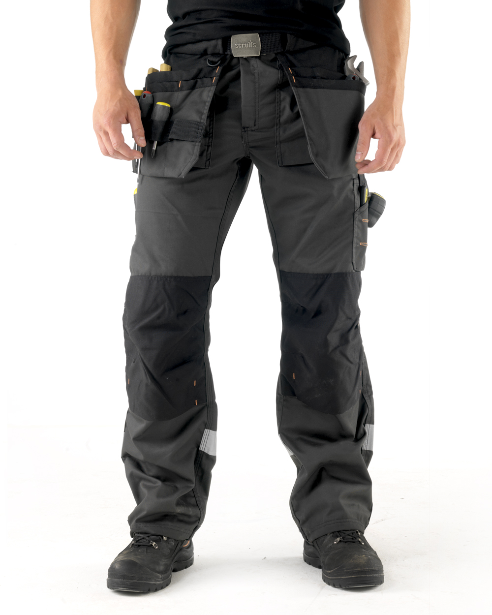 Mens Scruffs 3D Trade Trouser Work Cordura Holster Pants Knee Pad FREE BELT