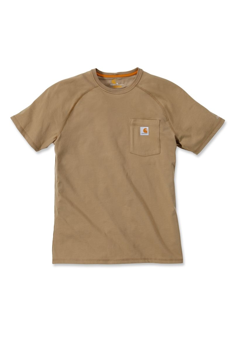 Carhartt 100410 force moisture wicking cotton short sleeve for Carhartt burgundy t shirt