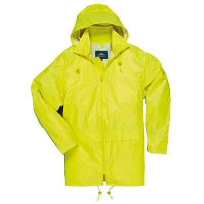 portwest s440 classique adulte manteau de pluie pour homme v tements de travail nouveau travail. Black Bedroom Furniture Sets. Home Design Ideas