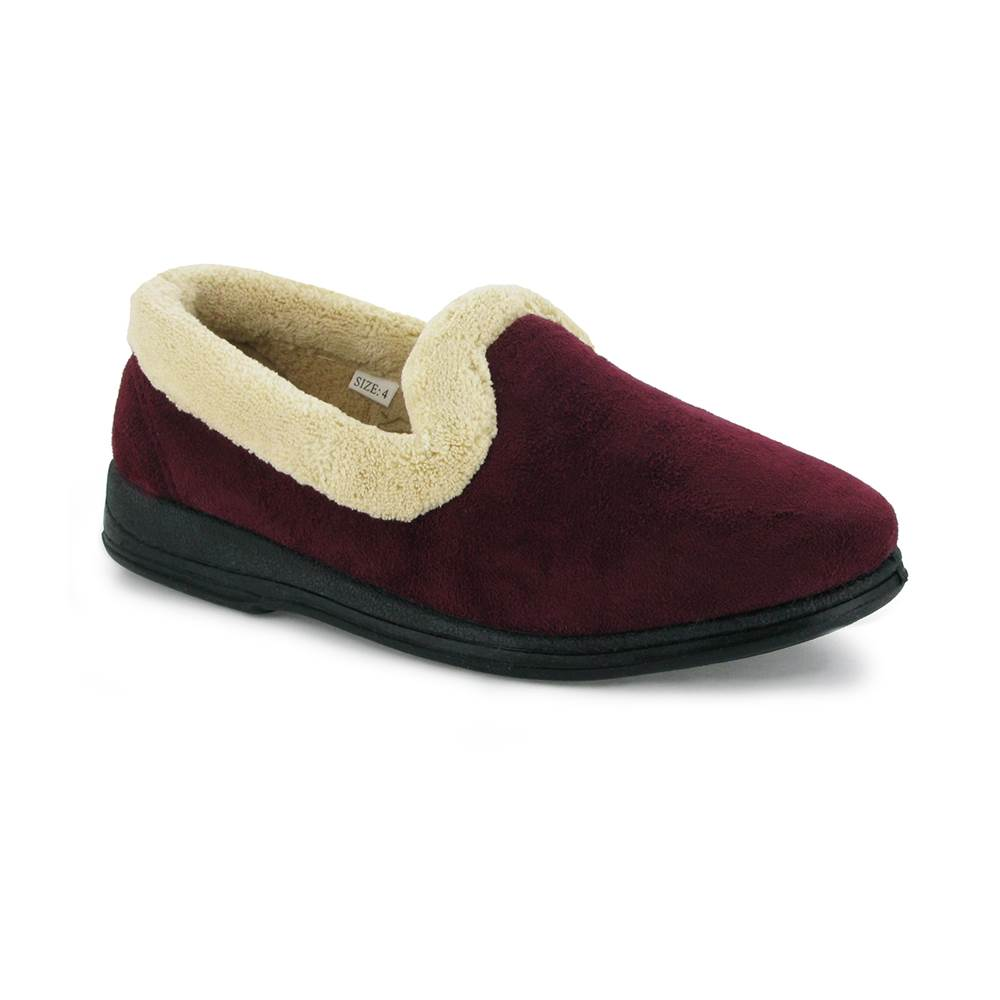 mirak vivian classic soft ladies bedroom house slippers womens shoes burgundy ebay. Black Bedroom Furniture Sets. Home Design Ideas