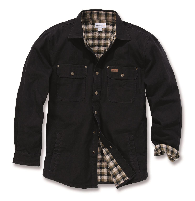 carhartt 39 100590 weathered canvas shirt jacket mens new workwear. Black Bedroom Furniture Sets. Home Design Ideas
