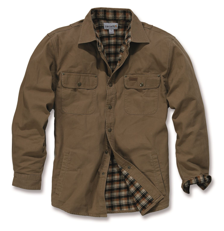 carhartt 100590 weathered canvas shirt jacket mens new workwear ebay. Black Bedroom Furniture Sets. Home Design Ideas