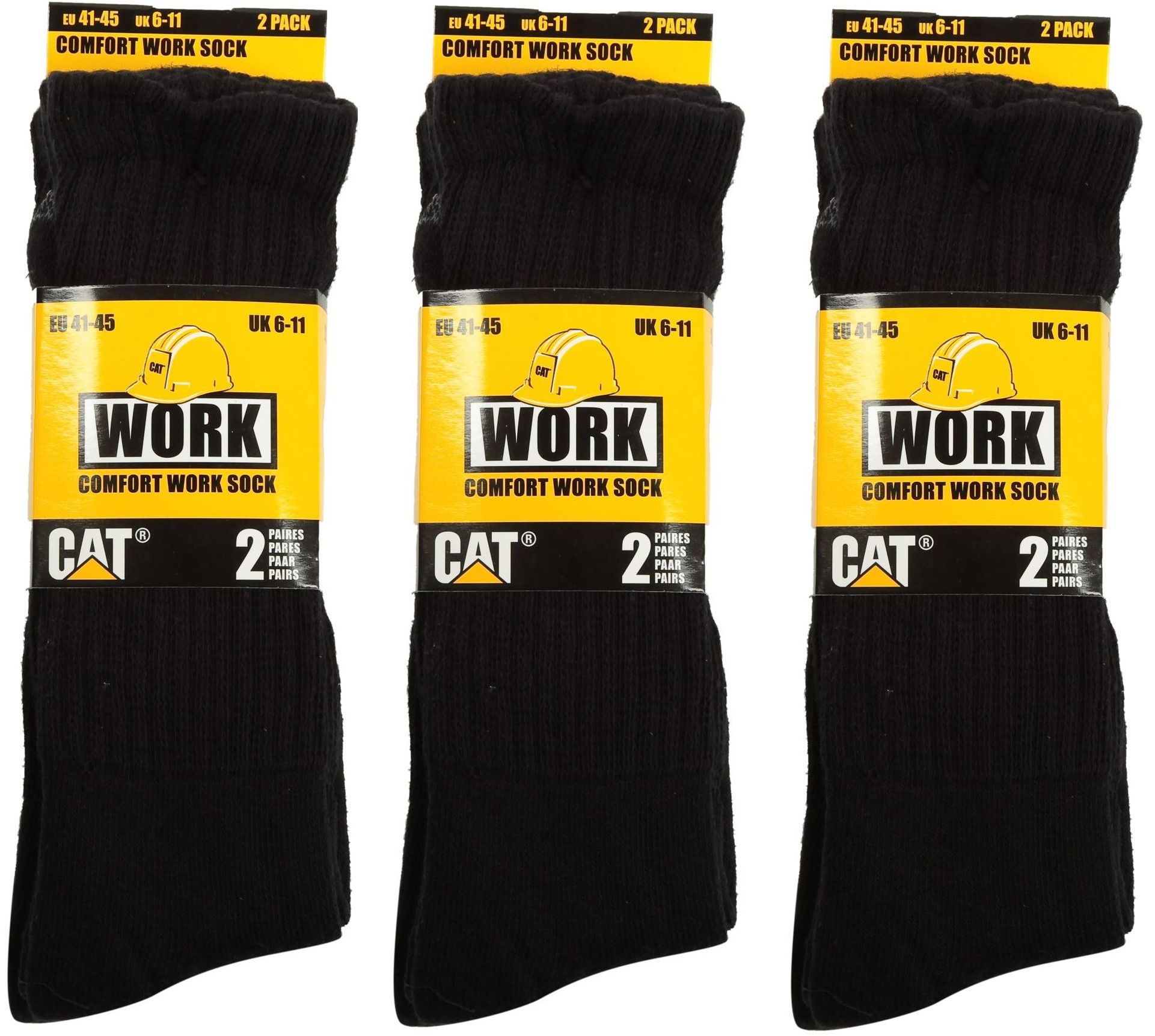 caterpillar cat confort homme chaussettes de travail 2 4 6 paire pack recommander pour les. Black Bedroom Furniture Sets. Home Design Ideas