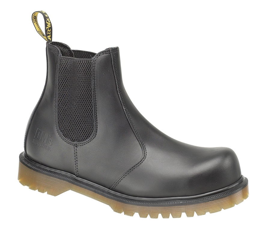 dr martens icon 2228 black safety work boots with steel