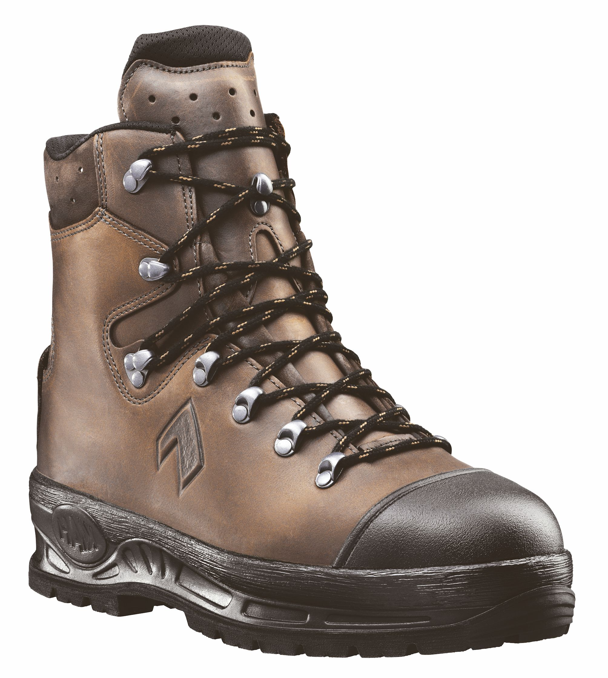 haix trekker mountain s3 gore tex waterproof new safety brown chainsaw boots ebay. Black Bedroom Furniture Sets. Home Design Ideas