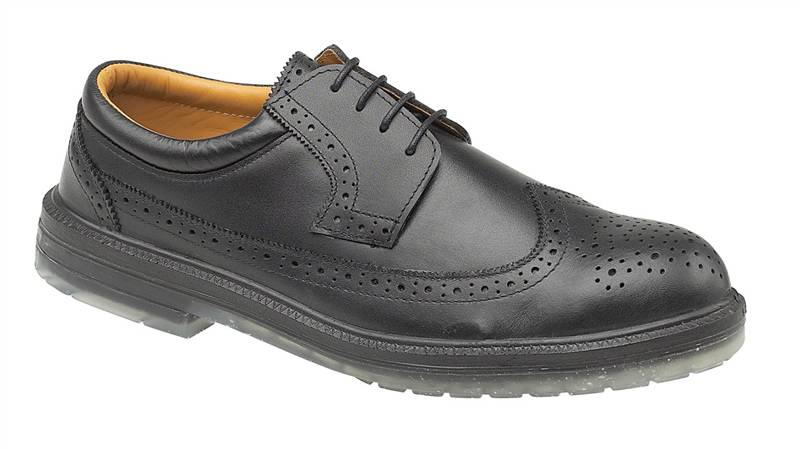 Footsure-FS44-Excutive-Black-Brogue-Safety-Work-Shoe-S1-P-SRA