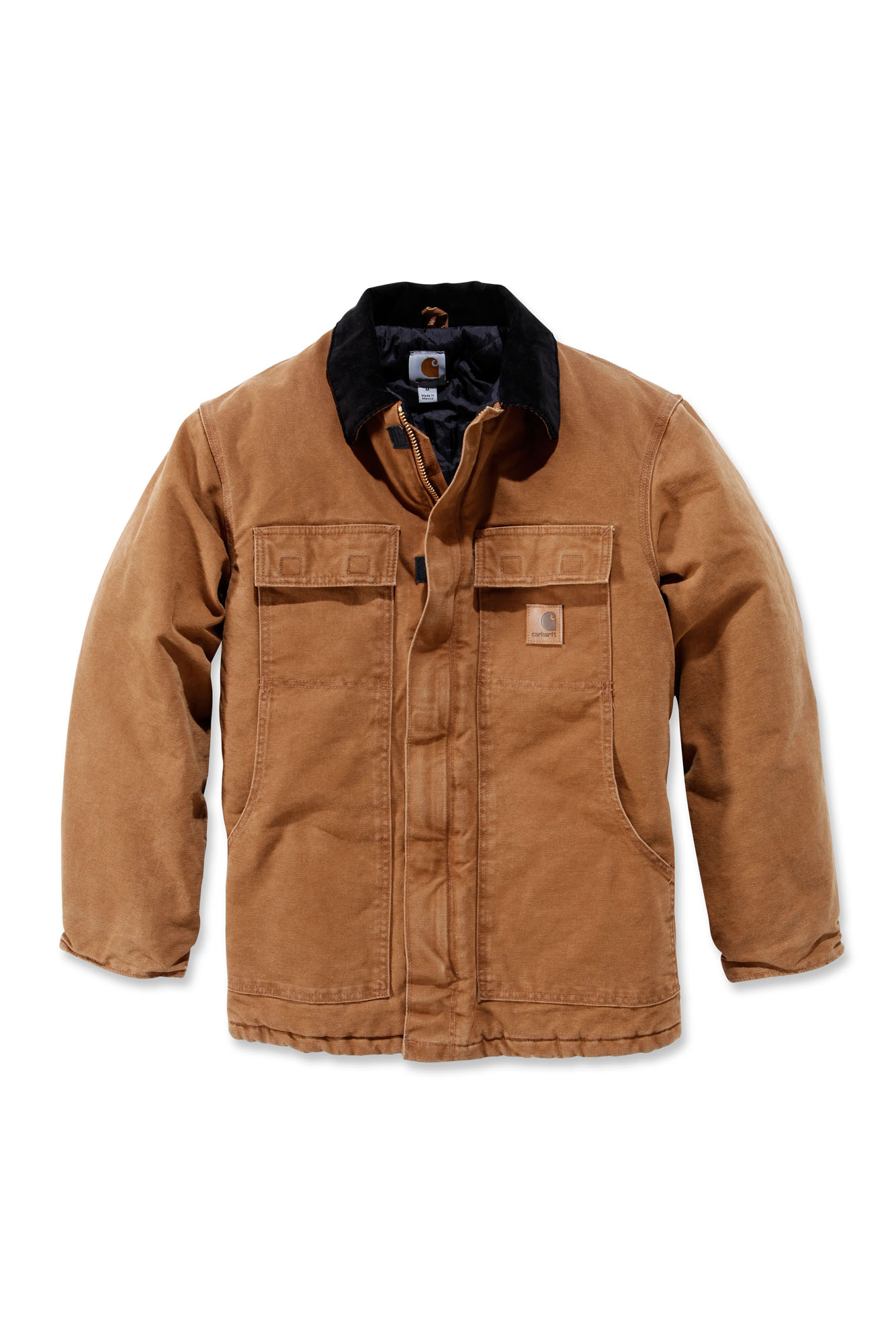carhartt 39 c26 sandstone traditional coat mens new workwear jacket ebay. Black Bedroom Furniture Sets. Home Design Ideas