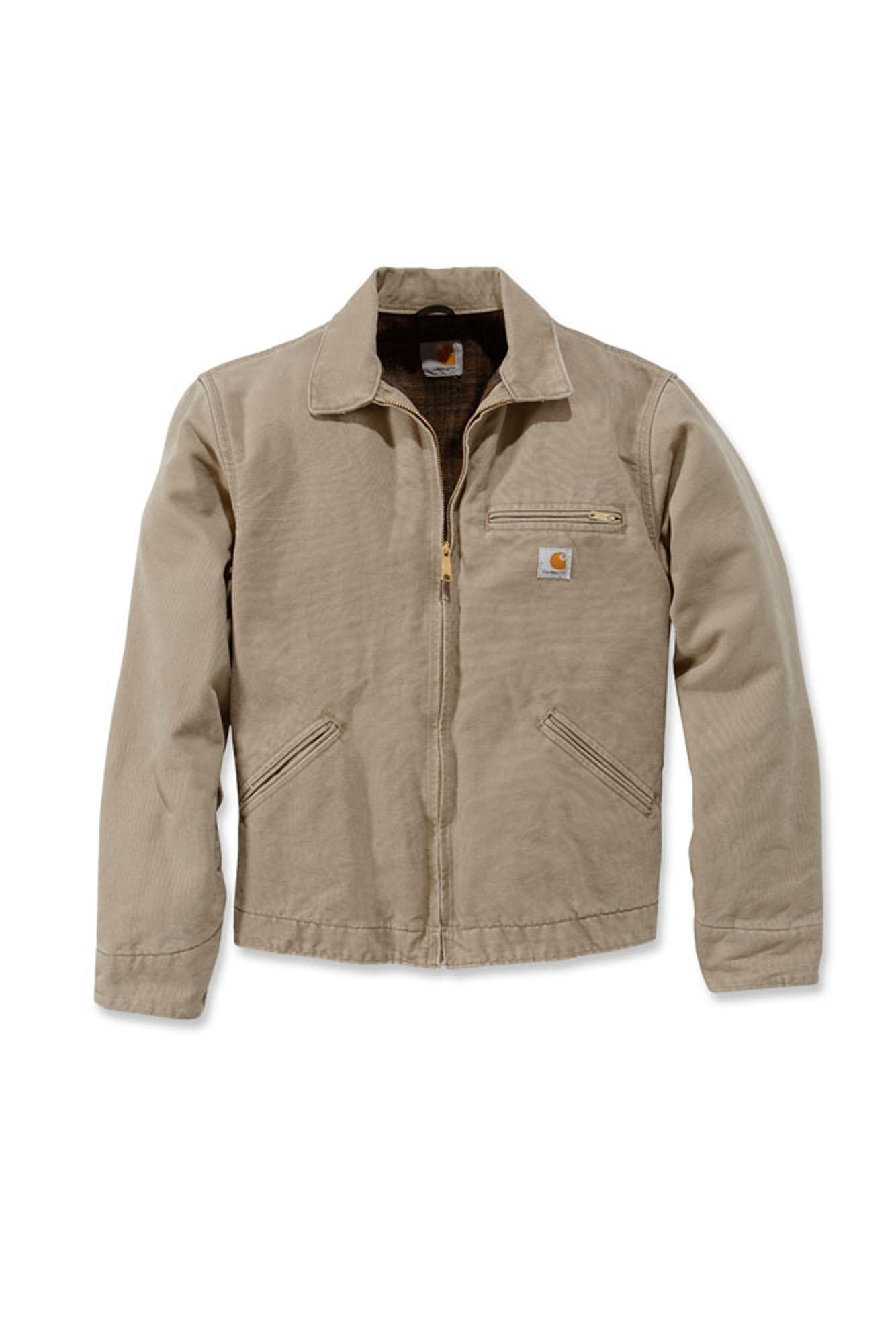 carhartt ej097 sandstone detroit jacket mens new workwear coat ebay. Black Bedroom Furniture Sets. Home Design Ideas