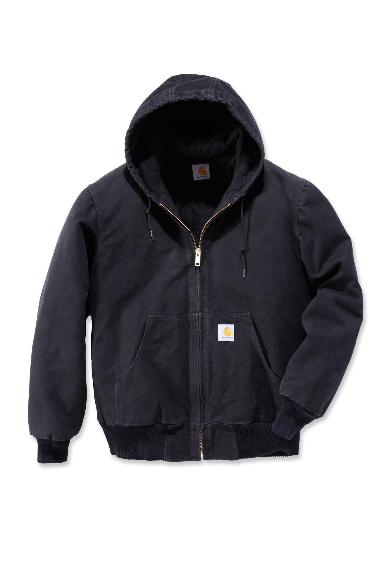 carhartt j130 sandstone active jacket mens new workwear coat ebay. Black Bedroom Furniture Sets. Home Design Ideas