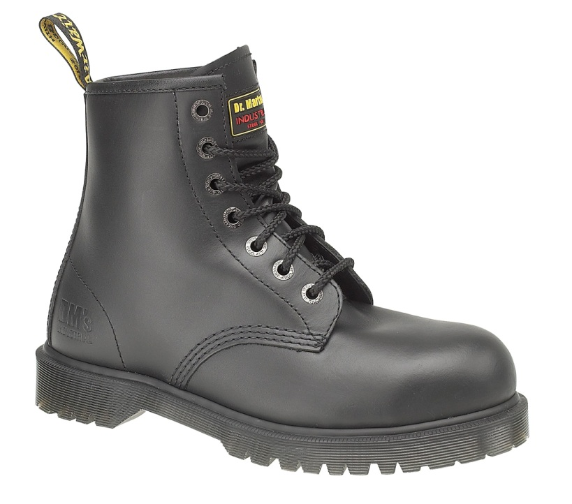 dr martens fs21 black safety work boots with steel toe