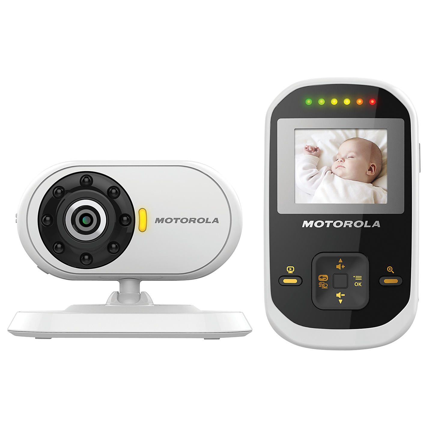 motorola mbp18 1 8 lcd video baby monitor night vision led sound indicator. Black Bedroom Furniture Sets. Home Design Ideas