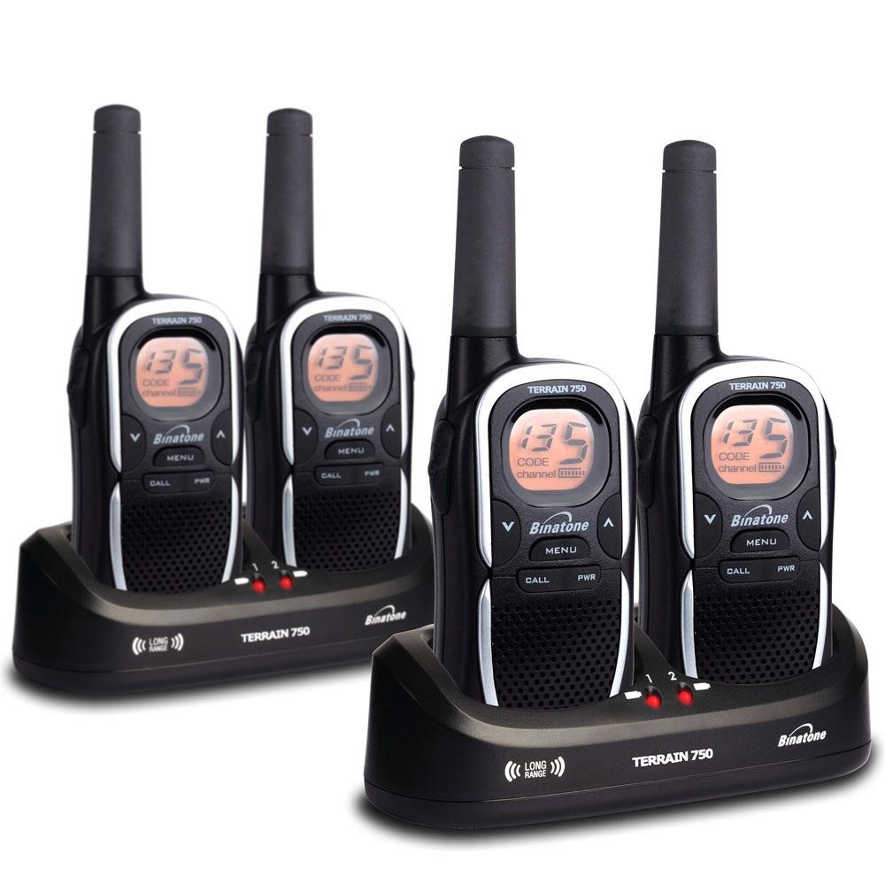 Rechargeable walkie talkies pack